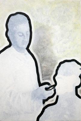 445  der zeichner  30x20  oil on pigment print on canvas  14
