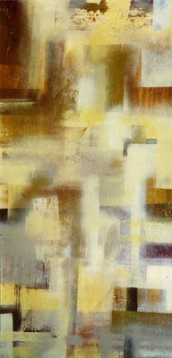 014  o.t.    lacquer on wood, ca. 200 x 80 cm, 1995
