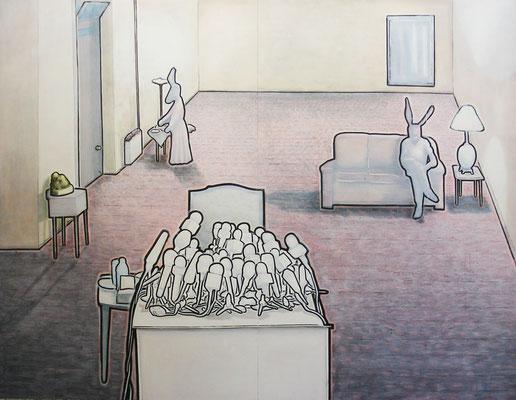 280  rabbits  172x222  oil, pigment pen on wood  08