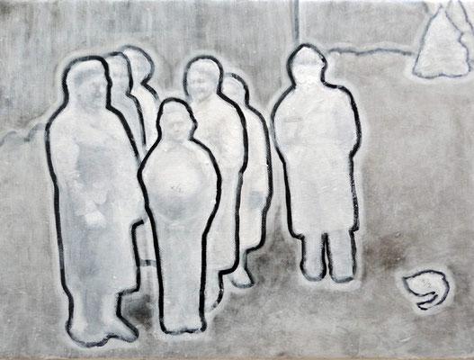 406  schroedingers katzen  30x40  oil on pigment print on canvas  11