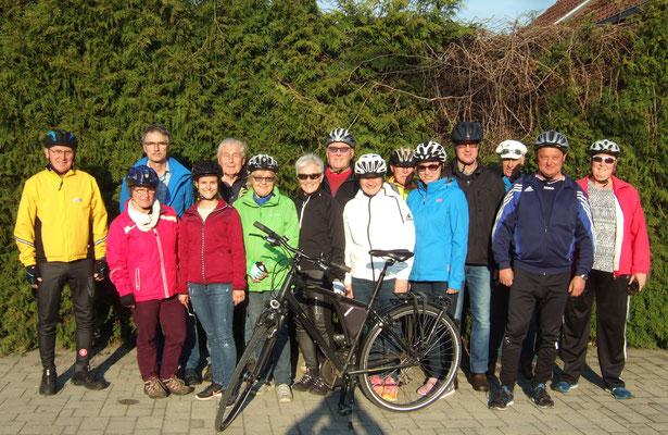 Die 15 Teilnehmer hatten unter der Leitung von Franz Schruf eine Strecke von 23 kilometer zurückgelegt.