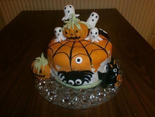 Gâteau confectionné par Isabelle pour la fête d'Halloween des Lucioles