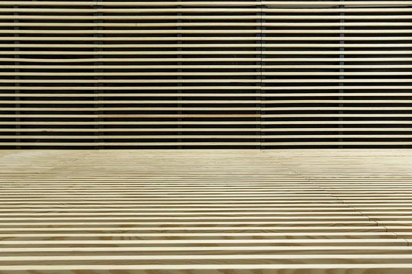 Faux-plafond en hêtre naturel, Bureaux, Paris 10, 2014, Architectes: Guillaume Cariou et Cedric Hurstel / JLL .