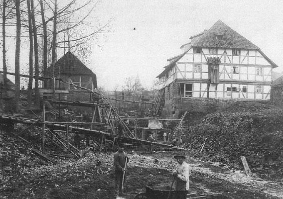 Bau des Elektrizitätswerkes 1901-1902