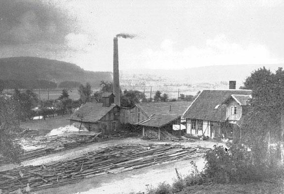 Zimmerplatz Husung, Leinestraße um 1920