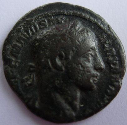imitation denier d'Alexandre Sévère frappé à Rome en 225, 3,22 g, A/ IMP C M AVR SEV ALEXANDER