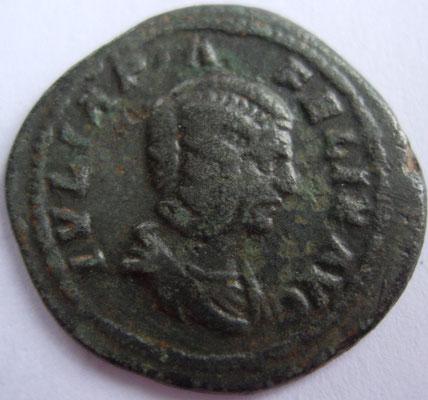 imitation en argent denier de Julia Domna frappé à Rome en 213, 2.73g, A/ IVLIA PIA FELIX AVG