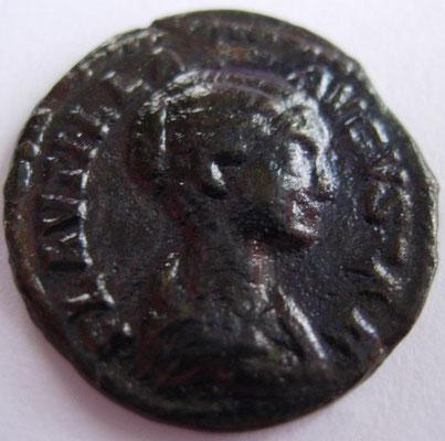 imitation denier de Plautille, frappé à Rome en 202, 1,81 g, A/ PLAUTILLA AVGVSTA