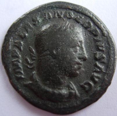 imitation denier d'Alexandre Sévère frappé à Rome en 232, 2,99 g, A/ IMP ALEXANDER PIVS AVG