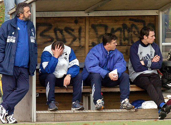 Ein verzweifelter Trainer