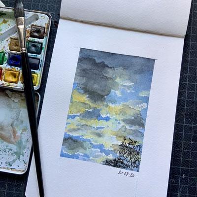 """Blick ins Skizzenbuch """"Wolkenstudie"""""""