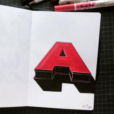 Handlettering, Brushpen + Fineliner