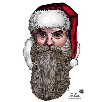 """""""Weihnachtsmann, coloriert"""", digital"""