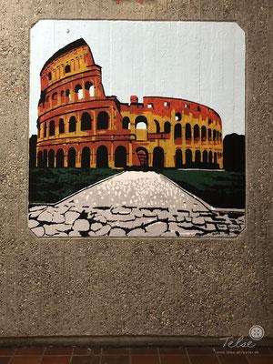 Wandgemälde in der Dieter-Forte-Gesamtschule Düsseldorf, Schülerarbeit