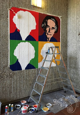 Entstehungsprozess eines Wandbildes in der Dieter-Forte-Gesamtschule