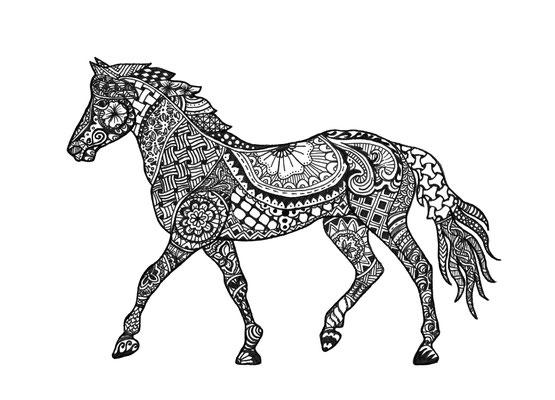 """""""Pferd, Pigment Liner"""