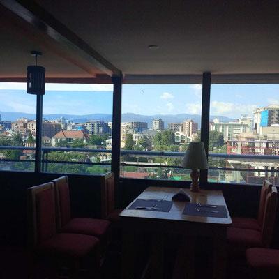 <b>Adhanom Efrem: Die Stadt im Wandel.</b> Auch auf diesem Bild erkennt man die vielen Neubauten und Baustellen. Die Stadt ist im 'Boom' und verändert sich jeden Tag ein bisschen mehr.