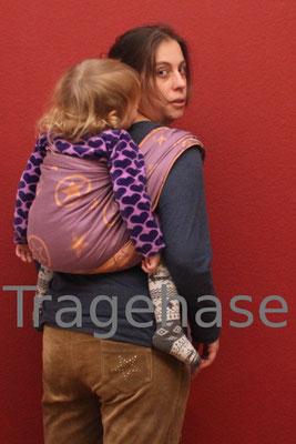einfacher Rucksack mit Fidella -Outer Space -lilac-