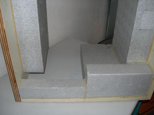 Quarto lato inferiore:  Taglio termico (SX)   -   Sottobancale (DX)