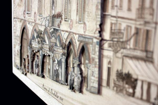 questo scatto aiuta a capire la morfologia della piazza o meglio la sporgenza del palazzo verso la piazza rispetto al fronte strada
