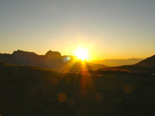 Sonnenaufgang, Blick zum Säntis/ Alpstein