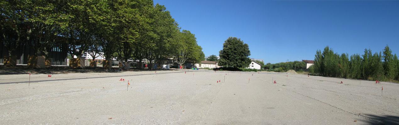 Phase pour la structure du parking