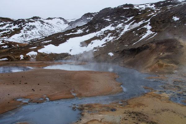 Geothermalgebiet Seltún bei Krýsuvík, Reykjanes, Südwestisland (März 2014)