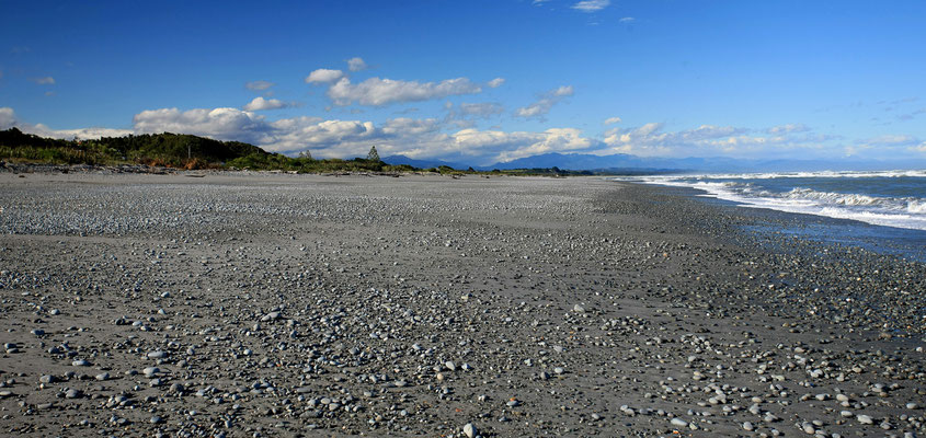 Beach near Greymouth ( West Coast )