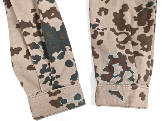 digital design camouflage trendsetter irishsetter ethical fashion transform statement piece message ökomode parka jacke hose military peace love mindfulness designer