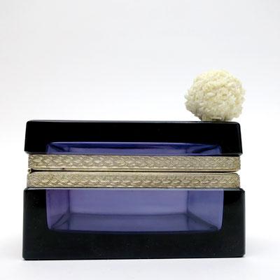 murano glasdose trinket box box antique design purpur lila nobel edel hochzeitsgeschenk sophisticated taufgeschenk