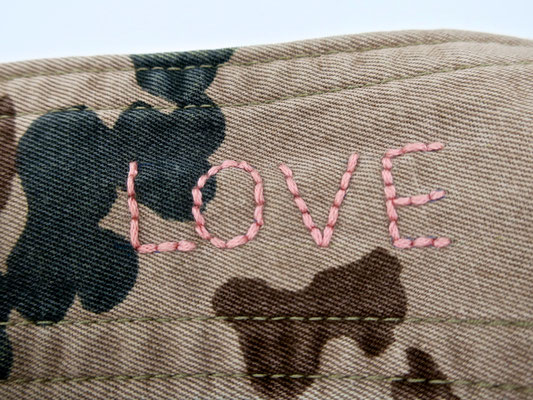 love peace embroidery