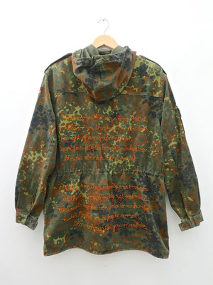 vegan embroidery hunting parka camouflage camu