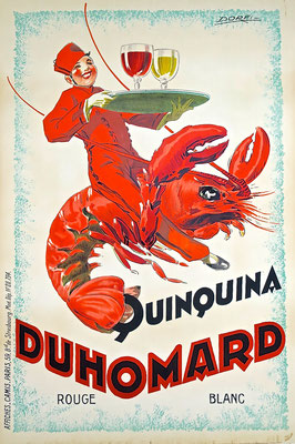 lobster hummer plakat affiche lithographie lithography