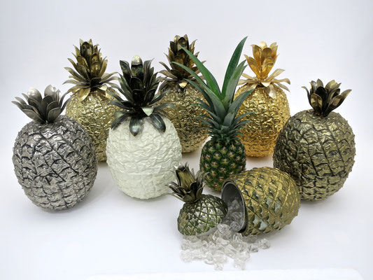 icebucket glamorous sophisticated pineapple hollywoodstyle  designclassics  eyecatcher  interior festlich festtafel dinnerparty