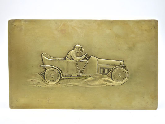 automobilia Oldtimer männergeschenke Männer wmf straußenmarke messingdose deckeldose box trinketbox autorennen millemiglia
