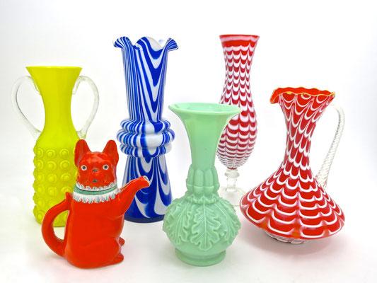 murano Einzelstücke mundgeblasen mouthblown mops pug hund vasen blumenvasen popart coloryourlife bunt venedig geschenke hochzeitsgeschenke