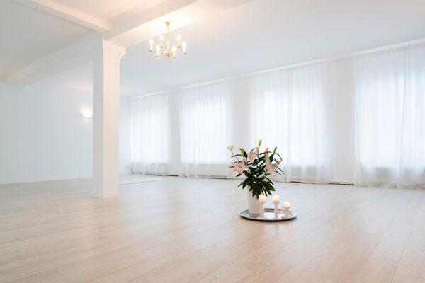 Yogaraum des Kundalini Yoga Zentrum BLISS Hannover