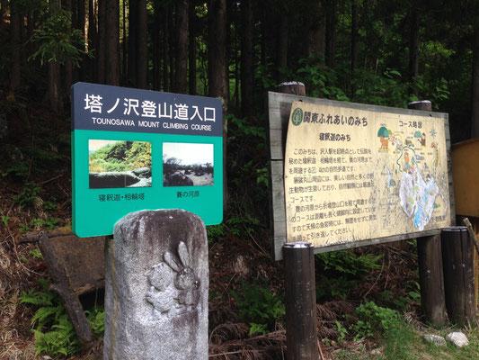 塔ノ沢登山口