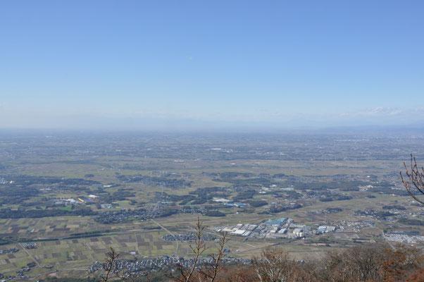 男体山山頂から北西方面