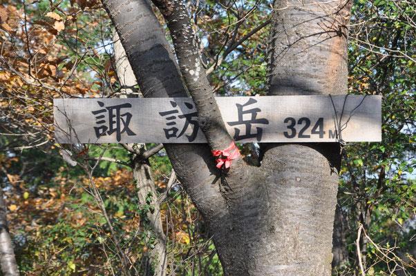 初めての諏訪岳登頂~ 3240mではなく、324mです(^_^;)