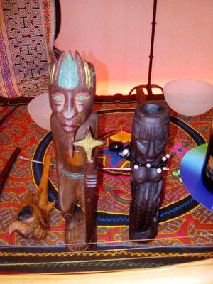 Schamanische Pfeifen für Mapachotabak