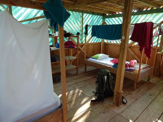 Unterkunft im Camp Charapamama