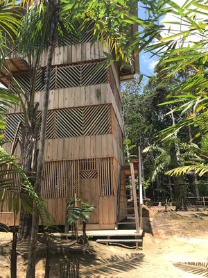 Wohnhaus im Camp Charapamama