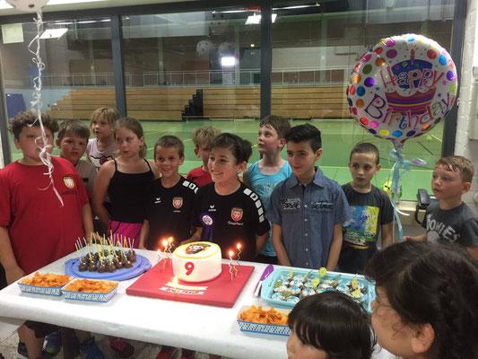 Geburtstagsfeier in der Kreissporthalle