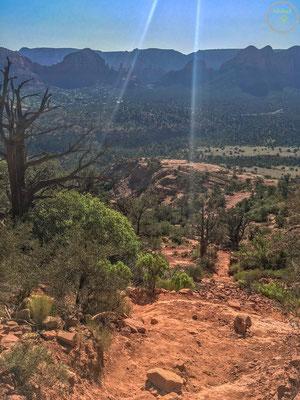 Der Blick ins Tal ist atemberaubend