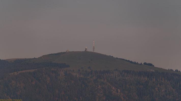 Das lange Warten, wann ist er den zu sehen - Blick vom Schauinsland auf den Feldberg
