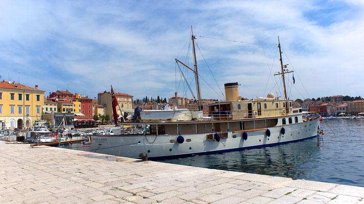 "Privatjacht ""Fair Lady - Southampton"" im Hafen von Rovinj"