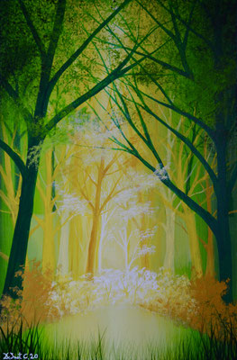 Green forrest ( Acrylics 60 cm x 40 cm)
