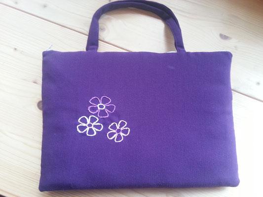 Tablettasche-Case-Bag-Hülle, Mischgewebe-violett-10 Zoll mit Griff