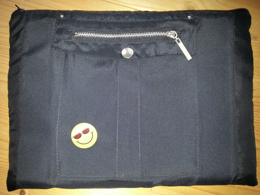 Tablettasche-Case-Bag-Hülle, Mischgewebe-schwarz-10 Zoll mit PIN, Unikat, Geschenkidee